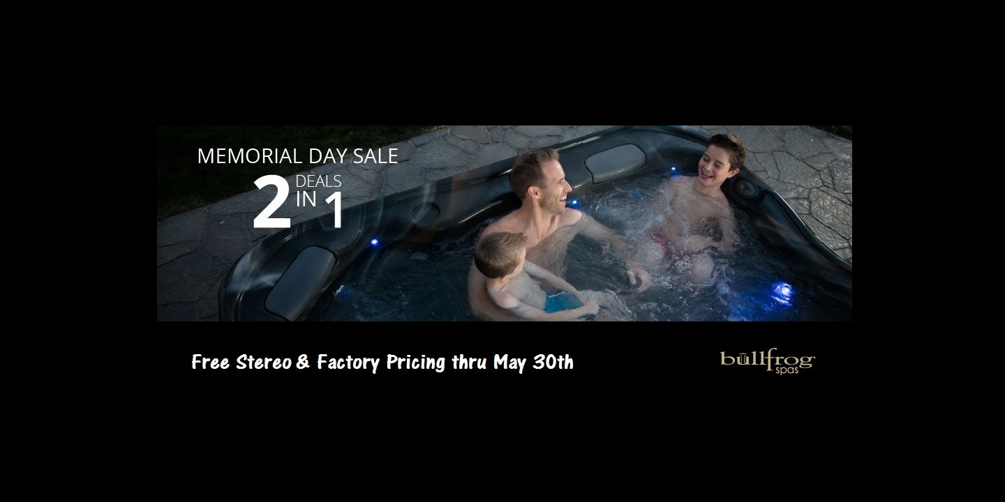 Check out our Bullfrog spas promotion in Salem.